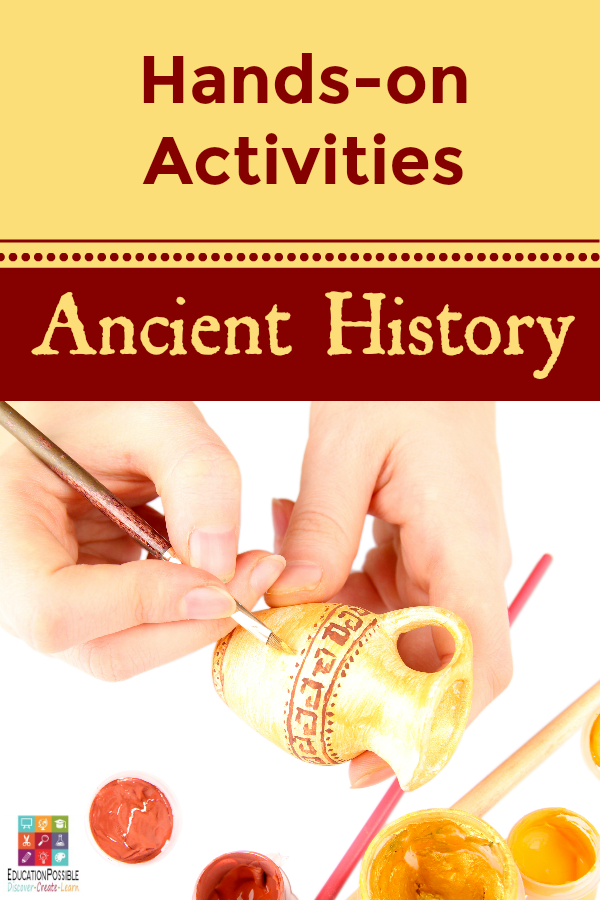 Instead of just reading about ancient history, let your middle school students interact with these past civilizations through fun and challenging hands-on activities. They'll not only learn more, but they'll find the subject of history much less boring. Teen history projects. Ancient Egypt activities, Ancient Greece projects, Ancient Rome ideas.