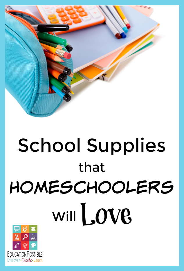 I love getting my girls some new school supplies every August. It's fun to start school with new stuff. Because we homeschool, the supplies I buy are not just practical, they're fun too!