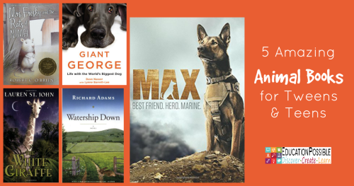 This month, as part of our Reading Adventure, my girls are reading books that are all about animals. While some are works of fiction and others are true stories, they all have one thing in common - some pretty amazing creatures. Choose one of these books to get your middle schooler reading!