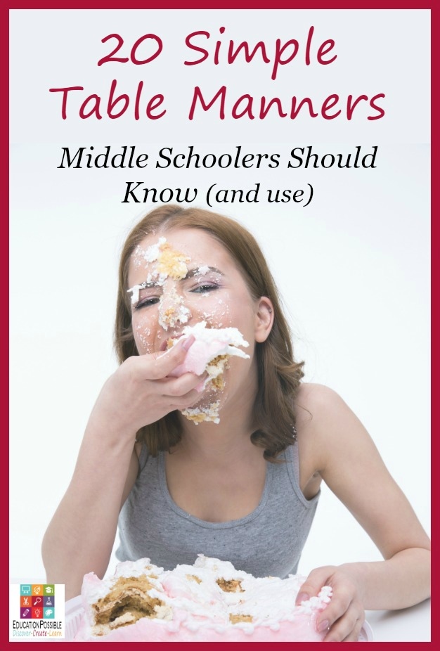 20 Simple Table Manners All Middle Schoolers Should Know (and Use)
