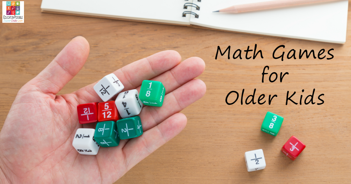 Teaching middle school math or high school math? Don't stop using hands-on activities to help them master their math facts. There is no reason to stick solely to textbook work. Personally, I love using math games for middle school learning. Math board games, dice games, and card games create a fun environment where older kids can master all of the math facts they're learning.