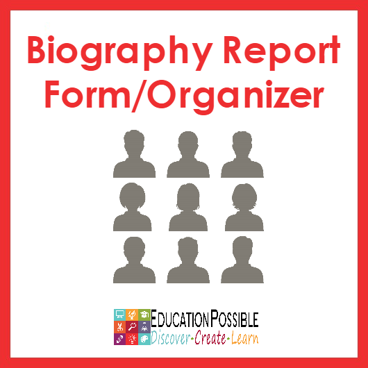 This biography worksheet template is the perfect place for older kids to record information they find when they research someone's life, their biography.