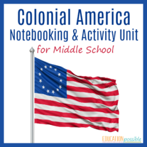 Make the 13 Colonies interactive for your middle schooler with this notebooking unit.