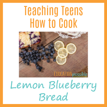 I'm always on the lookout for simple recipes that teenagers would like. This lemon blueberry bread recipe is easy to make and it's so delicious!