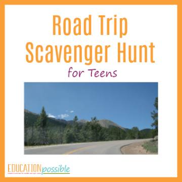 Add some fun to your next travel adventure with this printable road trip scavenger hunt for older kids. Includes 50 challenging things to search for.