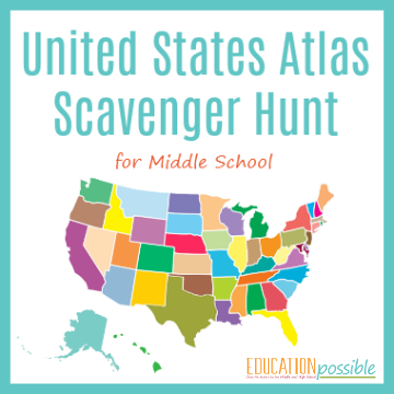 Use this USA Atlas Scavenger Hunt as part of your middle school geography lesson plans.