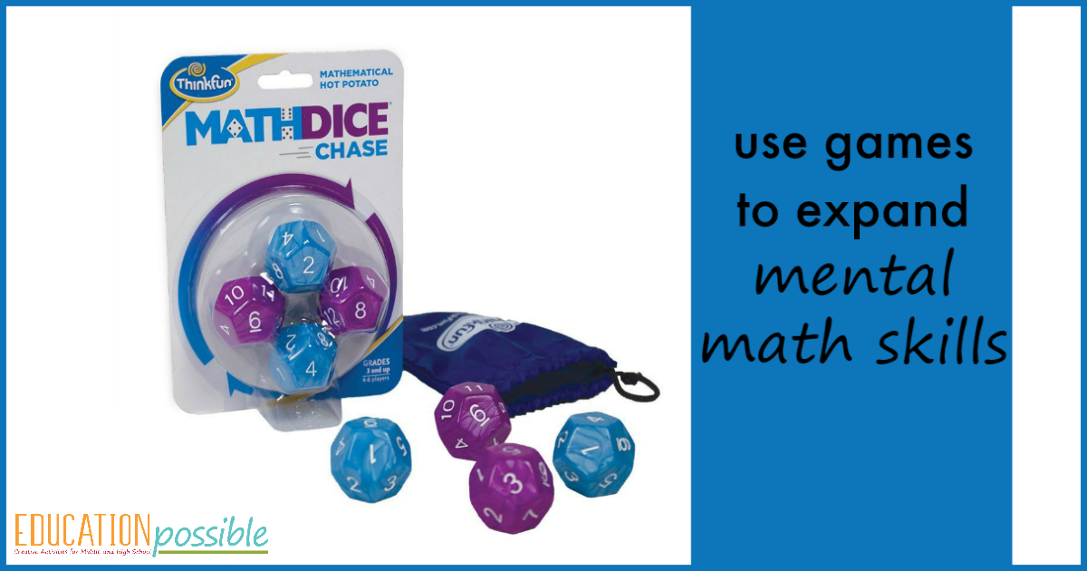 Play games as a part of middle school math to build skills
