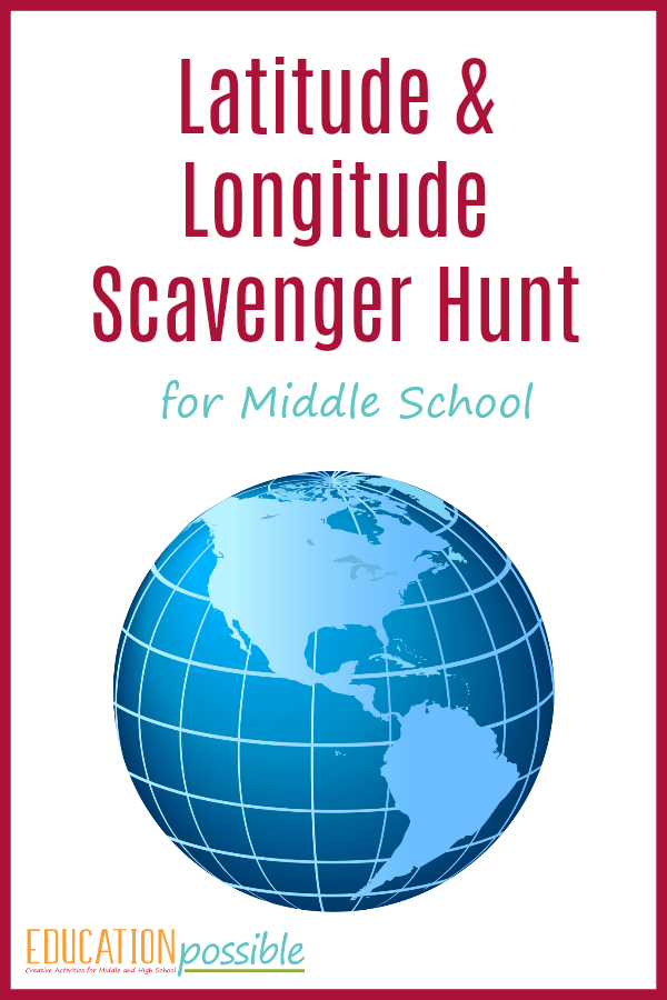 Geography Activities: Latitude and Longitude Scavenger Hunt