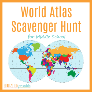 Use this world atlas scavenger hunt as a hands-on activity in your middle school geography lesson plans.